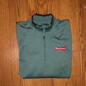 Quarter zip Budweiser jacket